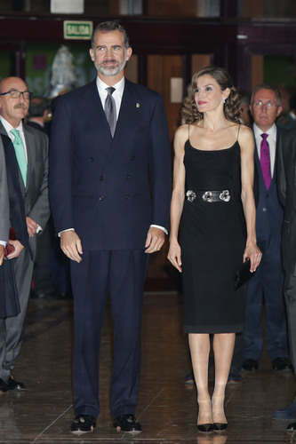 "Spanish Kings Felipe VI and Queen Letizia during the celebration of the 25th edition of the concert ""Princess of Asturias Awards"" in Oviedo, on Thursday, October 20, 2016."