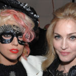 NEW YORK - SEPTEMBER 14:  Lady Gaga and Madonna attend the Marc Jacobs 2010 Spring Fashion Show at the NY State Armory on September 14, 2009 in New York City.  (Photo by Dimitrios Kambouris/WireImage for Marc Jacobs)