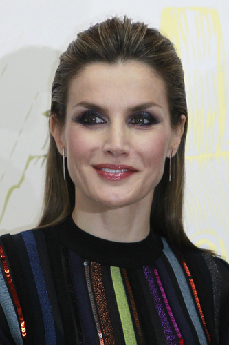 "Spanish Queen Letizia during the "" ABC Awards : Mariano de Cavia, Luca de Tena and Mingote 2016 "" in Madrid on Tuesday 13 December 2016."