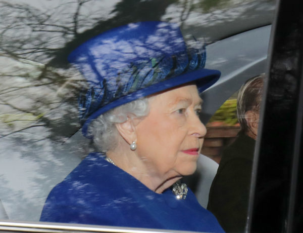 Queen Elizabeth II arriving to attend the morning church service at St Mary Magdalene Church in Sandringham, Norfolk.
