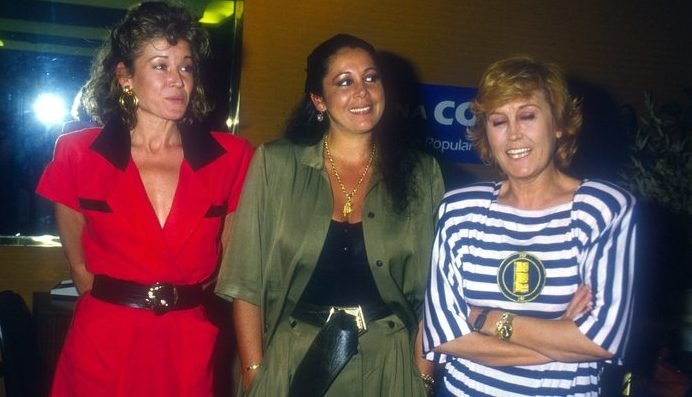 Encarna Sánchez con Isabel Pantoja y Mila Ximénez
