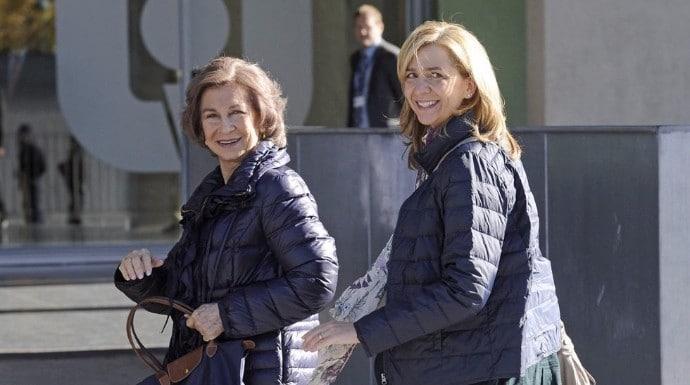 Reina Sofía e infanta Cristina