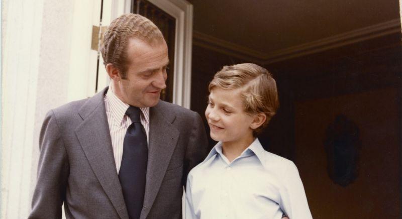 Rey Juan Carlos y príncipe Felipe