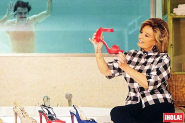 María Teresa Campos zapatos