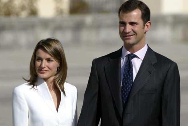 Letizia y Felipe en el Pardo el día de su compromiso