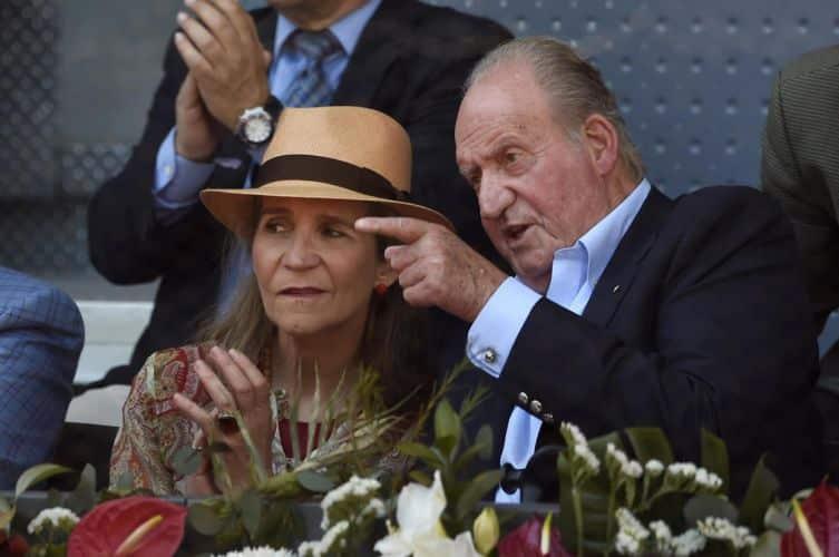 La infanta Elena y el rey Juan Carlos