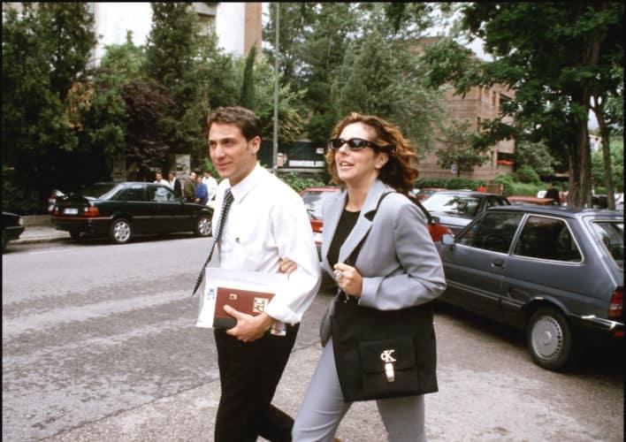 Rocío Carrasco y Antonio David Flores por las calles de Madrid cuando eran pareja
