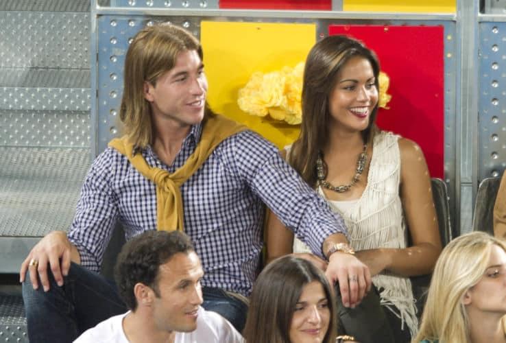 Unos jovencísimos Sergio Ramos y Lara Álvarez en el Open de Madrid