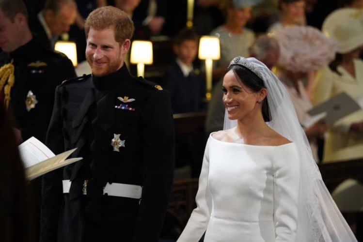 Harry y Meghan muy sonrientes el día de su boda