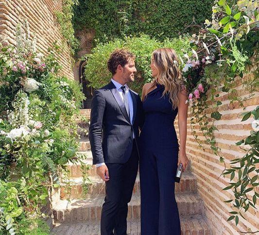David Bisbal y Rosanna Zanetti juntos en la boda de Melendi