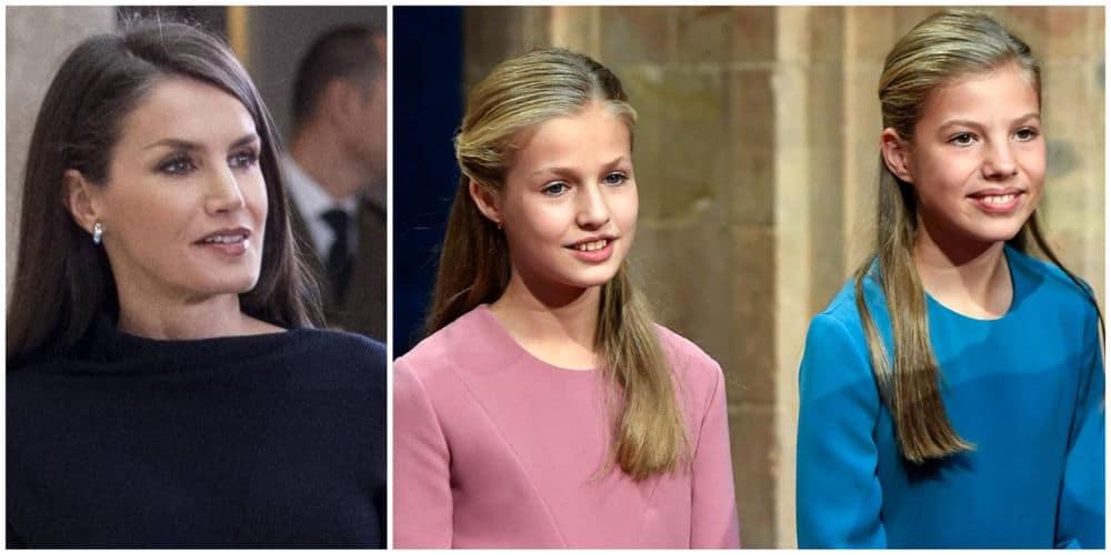Letizia expone a sus hijas y las críticas se ceban con ellas -