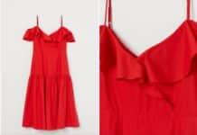 vestido rojo h&m