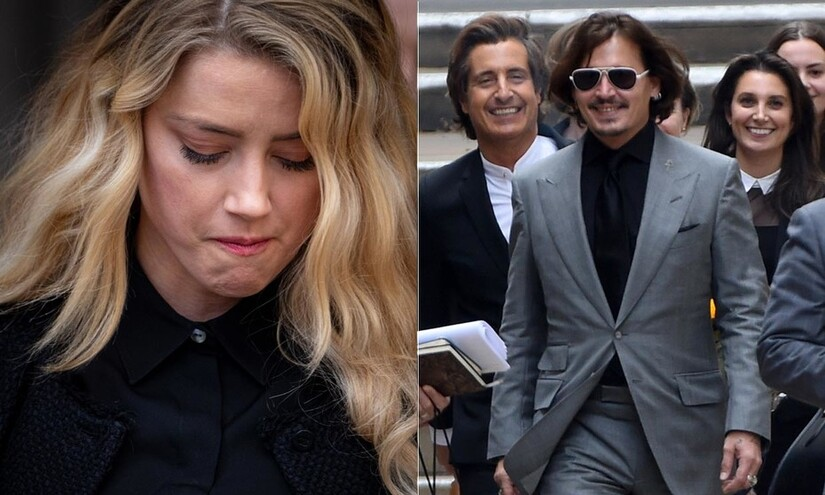 Conducta de Amber y Johnny cuando salieron del juicio