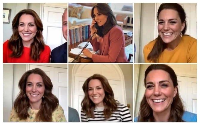La elección de los estilismos de Kate Middleton en cuarentena