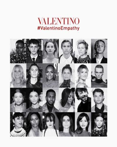 Todos los protagonistas de la campaña contribuyeron para la Fundación Valentino