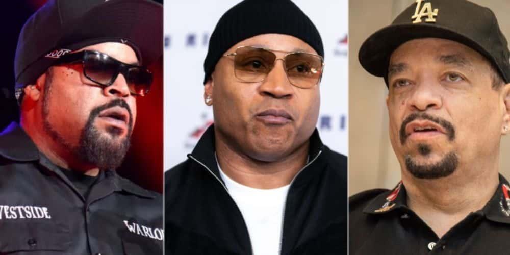 Los raperos: Ice Cube, LL Cool J, Ice T