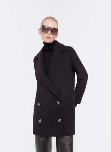 abrigo corto lana uterque