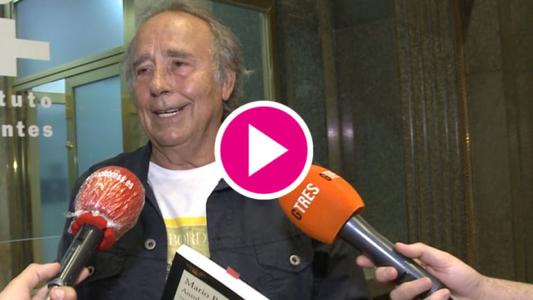 Joan Manuel Serrat emocionado tras haber sido abuelo