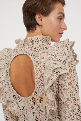 blusa encaje H&M