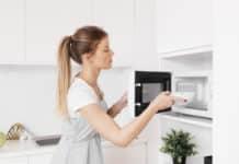 limpieza microondas