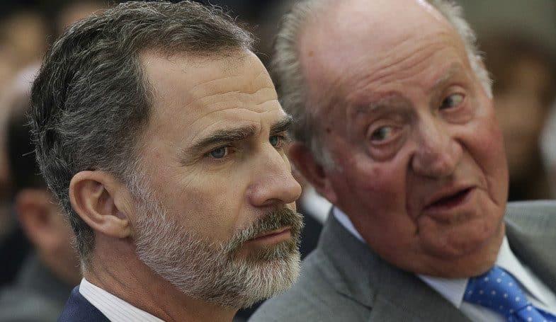 Rey Juan Carlos y rey Felipe