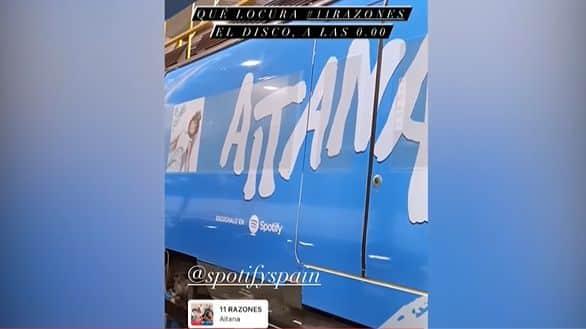 Promoción de Aitana en Renfe