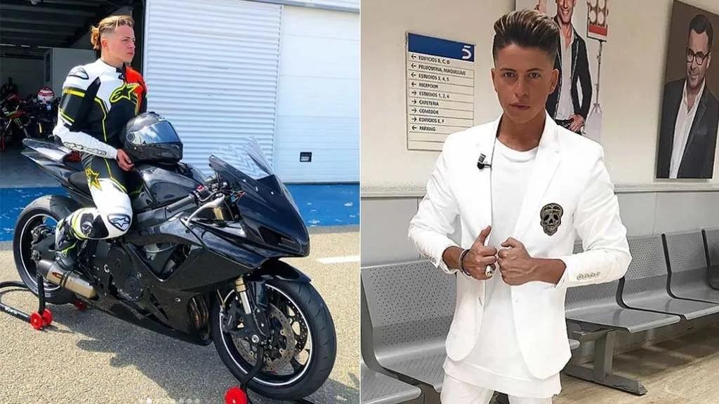 Christopher Mateo y su faceta como motociclista.