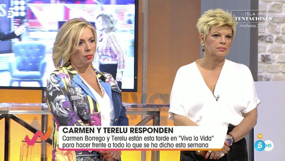 Terelu Campos y Carmen Borrego defienden a Teresa