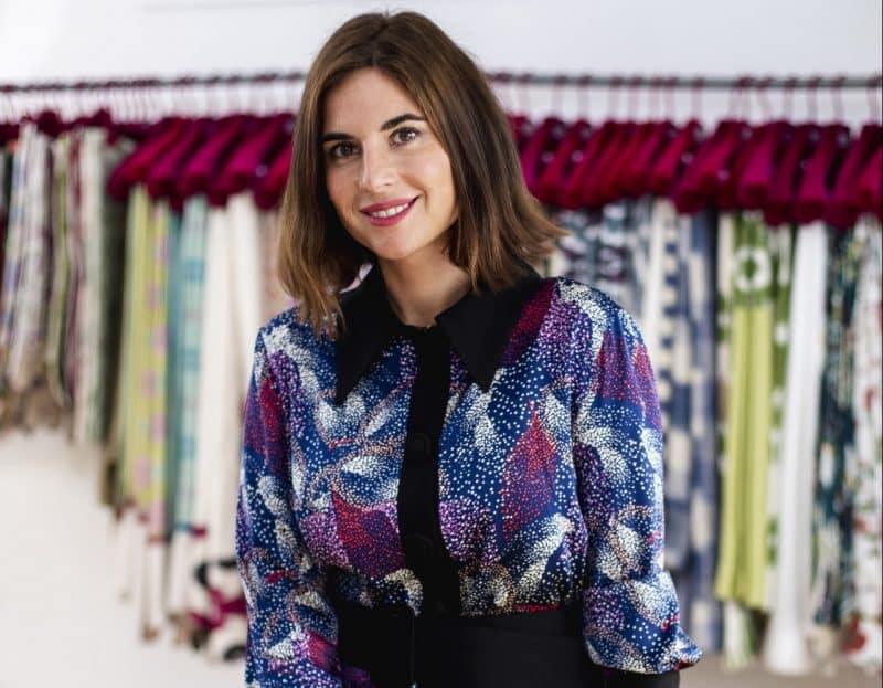 """Lourdes Montes during a portrait to promote """" Mi abril textil """" in Sevilla"""