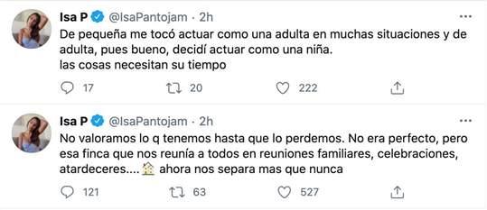 Tweets Isa Pantoja