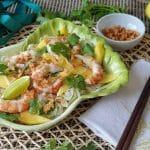 receta de mango y langostinos