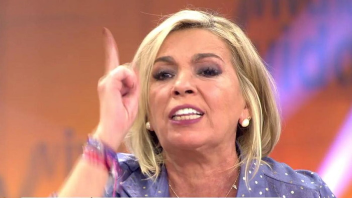 Carmen Borrego enfadada en Viva la vida