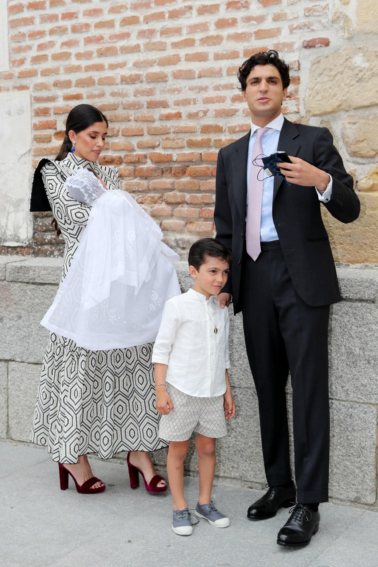 Maria de Jaime and Tomas Paramo  bautizo de ines domecq