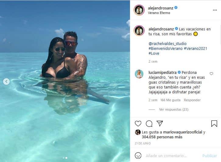 Alejandro Sanz Rachel Valdes playa