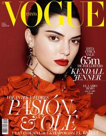 Portada Vogue Kendall Jenner hace 5 años