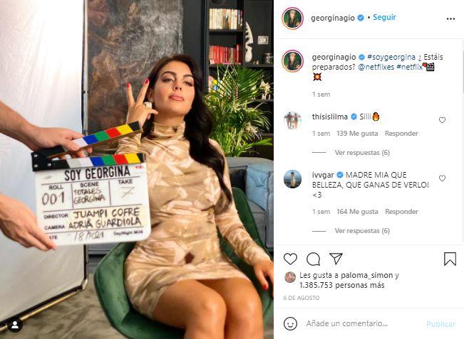 Captura Instagram Georgina Rodríguez documental netflix