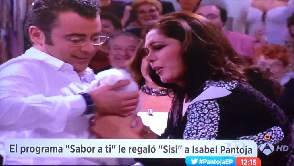 Jorge Javier Vázquez perrita Sisi Isabel Pantoja