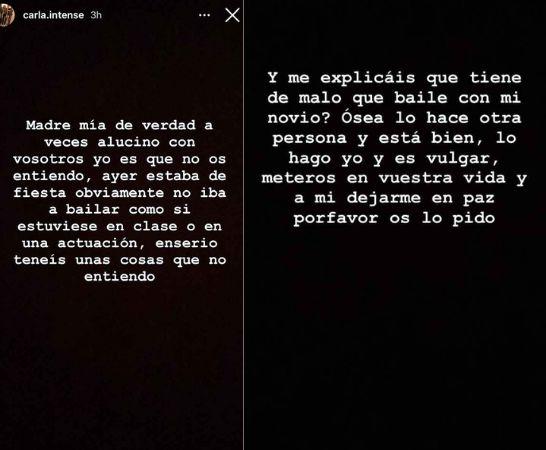 Carla Vigo protestas Instagram