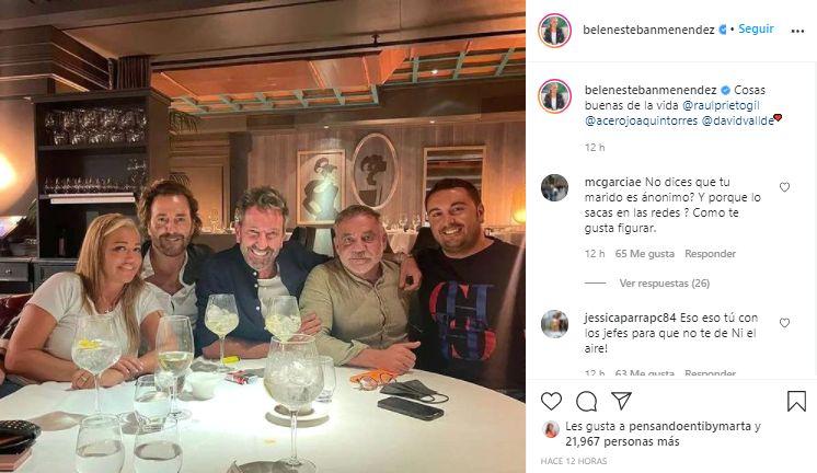 Captura Instagram Belén Esteban jefazos