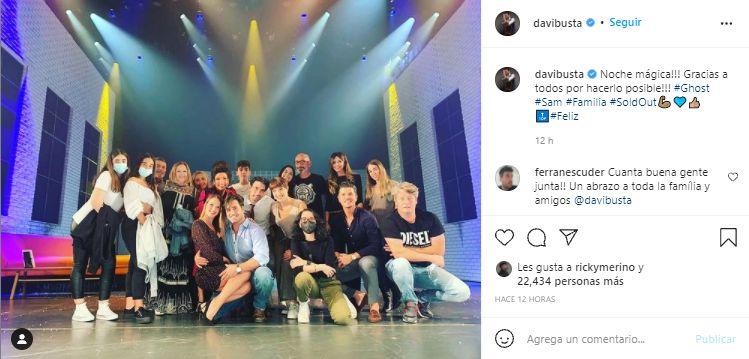 Captura Instagram David Bustamante estreno Ghost